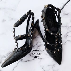 Valentino rockstud Heels Black 37.5